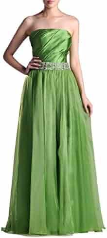 d25ed6ec06e4 Organza Natrual Floor Length Strapless A-line Special Occasion Evening Dress