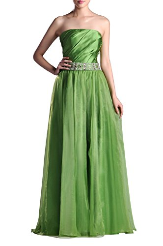Organza Natrual Floor Length Strapless A Line Special Occasion Evening Dress  Color Turquoise Customized
