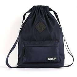 Waterproof Drawstring Sport Bag, lightweight Sackpack backpack for Men and Women (Blue)
