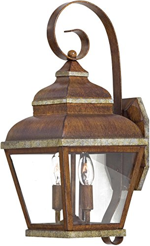 Creative Accents Wood Wall Plate - Minka Lavery Outdoor Wall Light 8262-161 Mossoro Exterior Wall Lantern, 120 Watts, Bronze