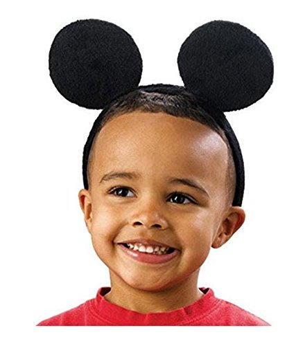 Mickey Mouse Ears Headband, Black, Pack of 12 -