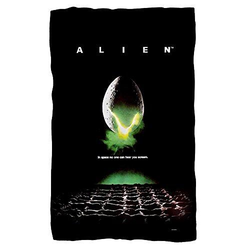 ALIEN Movie Poster 1979 Horror Movie 36 X 58 Fleece Blanket by Planet Caravan
