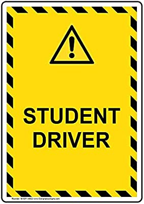 Amazon.com: compliancesigns Student Sign de driver de ...