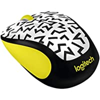 Logitech M325c Wireless Optical Mouse (Yellow Zigzag)