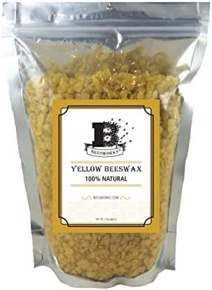 Beesworks® BEESWAX PELLETS, YELLOW, 1lb-Must Have For Many Different Projects