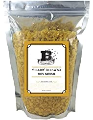 Beesworks BEESWAX PELLETS, YELLOW, 1lb-Cosmetic Grade-Triple Filtered Beeswax. Must Have For Many Different Projects