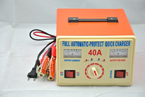 6V 12V 24V 40A Lead Acid Battery Charger, Car Battery Charger, Reverse Connection and Short Circuit Protection