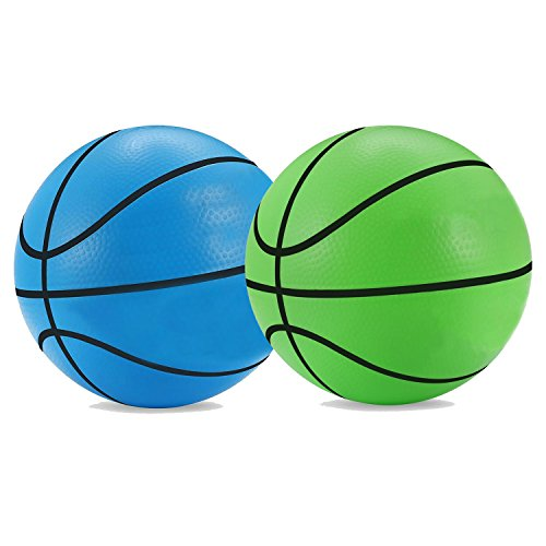 Mini Basketball Kids Game Ball Baby Toys Ball Bouncing Ball for Indoor Outdoor Pool Use 5.5
