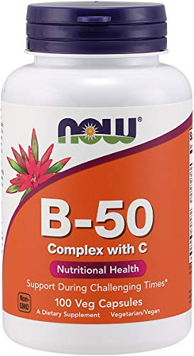 Now Foods Vitamin B-50 Complex, 100 Vegetarian Capsules