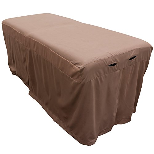 Microfiber Massage Table Skirt - Walnut Brown from Body Linen - Lightweight, Super Soft and Stain-Resisting - Warm, Relaxing Brown Color - Massage Table Bed Skirt to Fit Standard Size Massage Tables