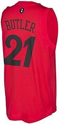 Chicago Bulls Christmas Jersey.Amazon Com Chicago Bulls Men S 21 Jimmy Butler Red 2016