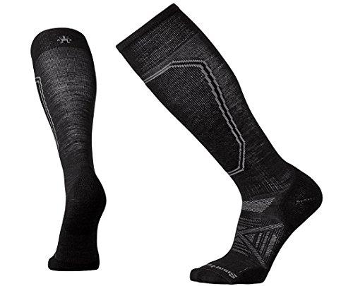 SmartWool Men's PhD Ski Light Socks (Black) (Ski Light Ski Socks)