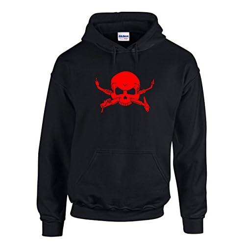85%OFF Welding Skull Hoodie | Welder Occupation Hooded Sweatshirt Red Design | Mens