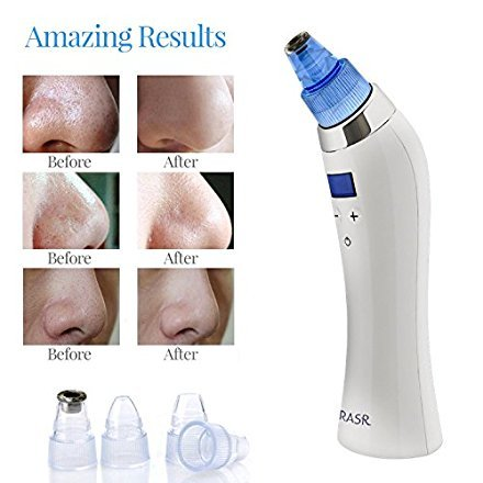 [2018 UPGRADED] The Original Comedo Suction Microdermabrasion Machine Blackhead Removal Rechargeable Skin Peeling Machine By Krasr Comedone Extractor Set - Exclusive by KRASR (Image #4)