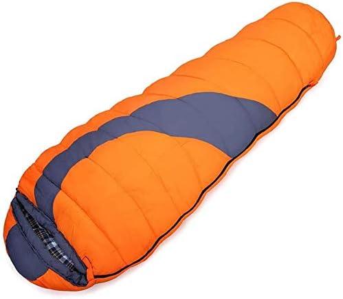 Momia Bata Ligera -10~10 ℃ acogedora Bolsa Caliente for Dormir es Ideal for el Senderismo de Aventura, Naranja, 220 * 80 * 50 cm de tamaño Nombre: 220 * 80 * 50 cm, Puede identificar el Color: Azul: Amazon.es: Hogar