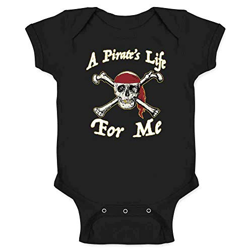 Pop Threads A Pirate's Life for Me Halloween Costume Skull Black 12M Infant Bodysuit]()