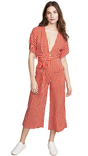 Faithfull The Brand Women's Cedric Jumpsuit, Red Kivotos Print, Small by Faithfull
