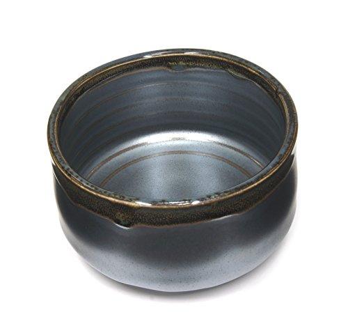Japanese Handcrafted Matcha Tea Bowl Black, Matcha Tea Cup Ceremony, Authentic Mino Ware Pottery, Kuro Oribe Chawan by Mino Ware (Image #2)