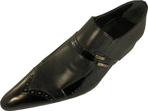 Chelsy - Italienischer Slipper mit Lochdesign und Seitenschnalle in schwarz