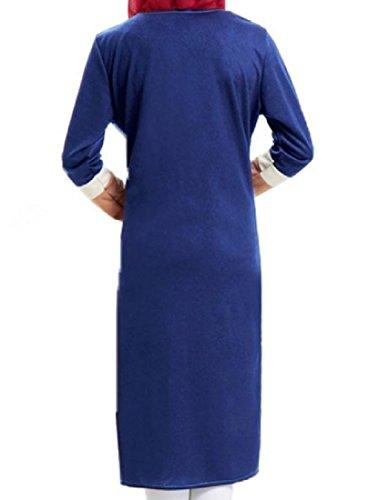 Zwei Gef Lange Bild Als rmel Coolred verschluss Mitte Stricken Frauen lschte Kleid Rei Moslemische nge L qaZWt5W