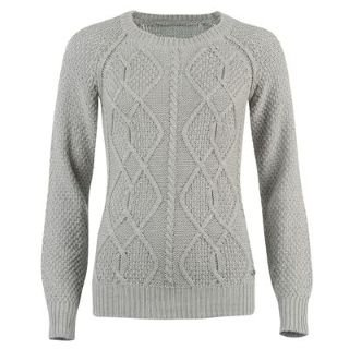 1ef309b186 Kangol Cable Knit Crew Neck Jumper Ladies Grey Marl 12 (M)  Amazon.co.uk   Clothing