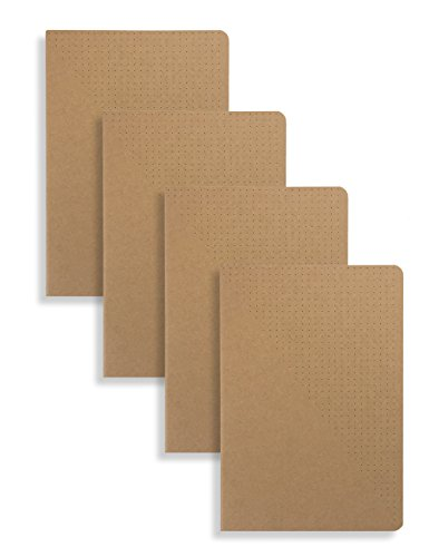 Items Notebook - Miliko A5 Kraft Paper Series A5 Softcover Notebooks/Journals/Diary Set-4 Items Per Pack(Dot)