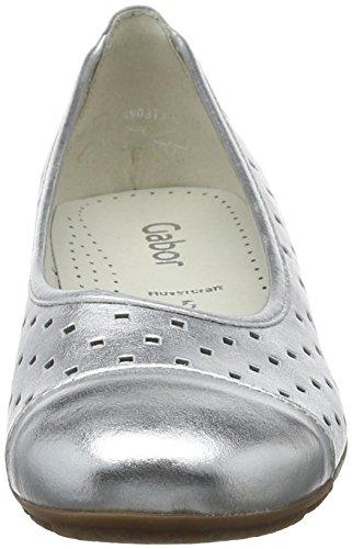Gabor Women Casual Ballet Flats,Multicolor (Silber),9.5 UK (44 EU)