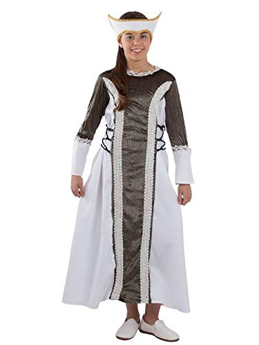 DISBACANAL Disfraz Dama Medieval Isabel niña - -, 12 años: Amazon ...