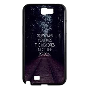 Samsung Galaxy N2 7100 Cell Phone Case Black_quotes miss memories Xdsgb