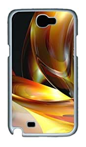 3D Abstract Designs Custom Designer Samsung Galaxy Note 2/Note II / N7100 Case Cover - Polycarbonate - White
