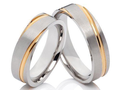 2 anillos Pareja anillos Póster con anillos de compromiso ...