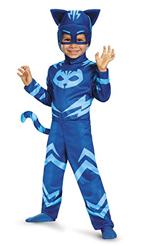Blue Mask Costume (Disguise Catboy Classic Toddler PJ Masks Costume (Medium/7-8))