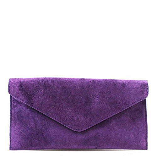 Bags Fancy Women Leather Women Purple Linen Clutch Shoulder Galaxy Prom Chain Party Purses Real Suede Strap xPnzf1v