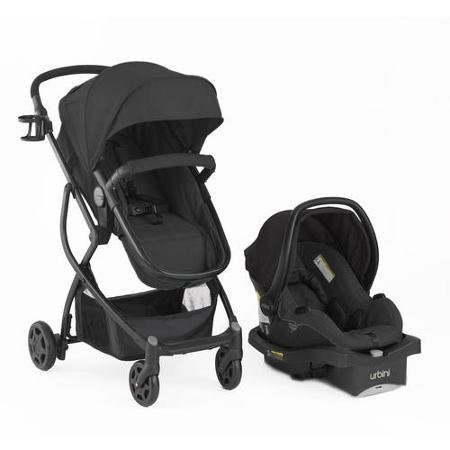 Urbini Omni Plus Travel System, Black by Urbini
