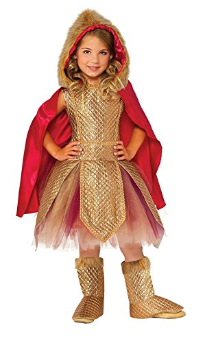 Girls Golden Warrior Princess Halloween Dress Up Costume (3-4years) for $<!--$29.91-->