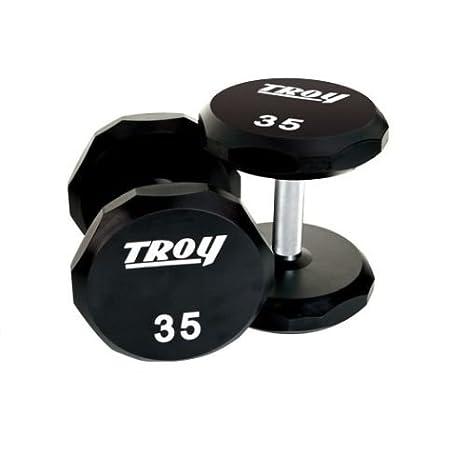 Troy Barbell tsd-105 - 125R Juego de mancuernas de goma recubierto de 12 cantos, 105 - 125 kg: Amazon.es: Deportes y aire libre