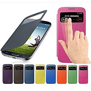 ZCL Minimalist Solid Color PU Leather for Samsung Galaxy S4 Mini I9190 (Assorted Colors) , Orange