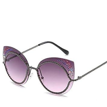 LLTYJ Gafas de Sol de Diamantes de imitación para Mujer ...