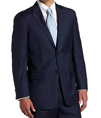 Tommy Hilfiger Mens 2 Button Side Vent Trim Fit 100% Wool Suit Separate Coat,  Blue, 46 ()