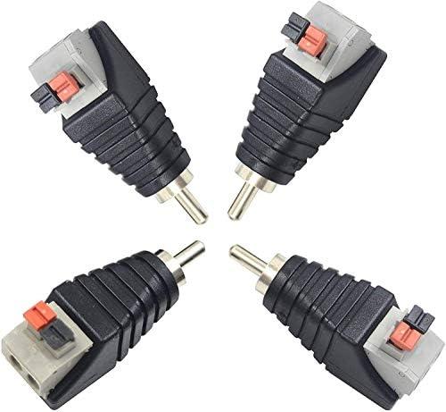 DealMux 20 accoppiamenti RCA maschio femmina a Audio Video connettore a morsettiera TVCC AV Balun