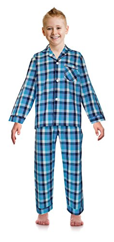 Star Long Sleeve Button Front - RK Classical Sleepwear Big Boys Button Front Pajama Set, Size 16