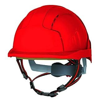 JSP AJS260-000-600 EVOLite Skyworker, casco de escalada industrial, color rojo