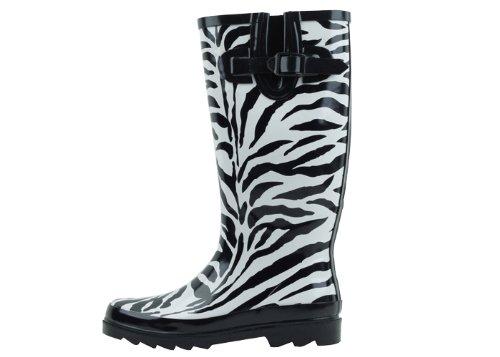 Sunville New Brand Women's Rubber Rain Boots,8 M ()