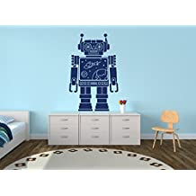 Wall Decal Robot Space Vinyl Sticker Decals Nursery Baby Room Kids Boys Girls Home Decor Bedroom Art Design Interior NS708