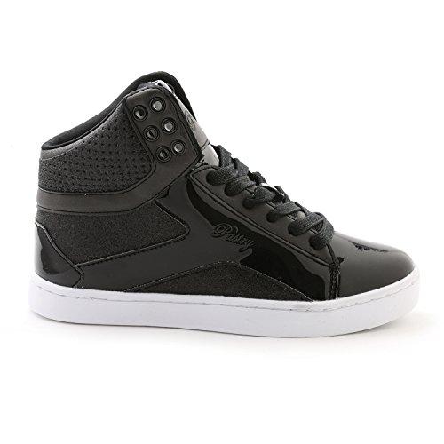 Pastry Pop Tart Glitter High-Top Sneaker & Dance Shoe for Women Black