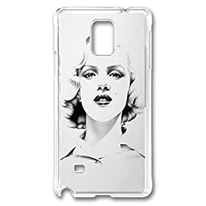 Drawing Of Monroe Polycarbonate Hard Case Cover for samsung note 4 Transparent by runtopwellby Maris's Diary