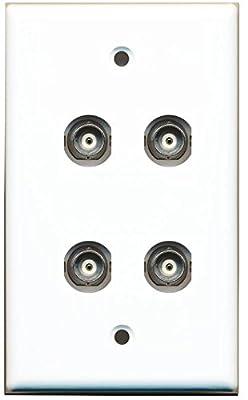 RiteAV BNC Female/Female HD-SDI Jack Wall Plate