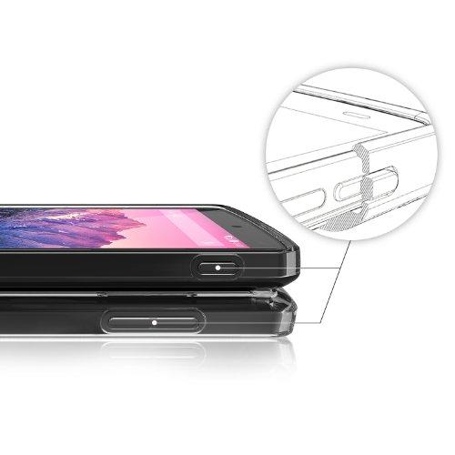 Nexus 5 Case - Ringke FUSION Case [Free HD Film/Drop Protection][BLACK] Shock Absorption Bumper Premium Hard Case for Google Nexus 5 - Eco/DIY Package
