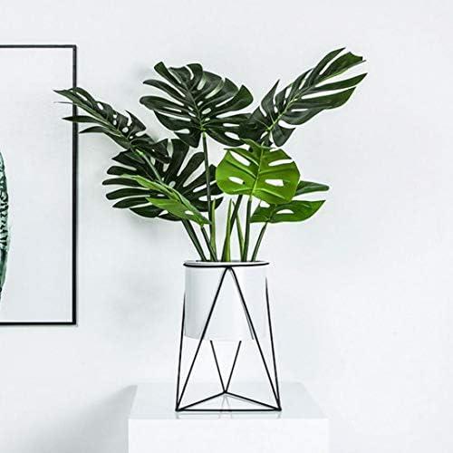 Fer Blanc Géométrique Rack Porte Plastique Planteur Support Métal Intérieur Bureau Pot De Jardin Pour Plantes Succulentes Vert Bonsai Pots De Fleurs Décoration D'intérieur
