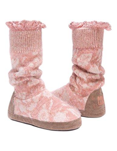 Muk Luks Womens Vanessa Open Pink Slipper Open Pink XxC08OH